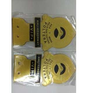 POLTERA Persatuan Bekas Polis dan Tentera Emblem Badge Gold Model