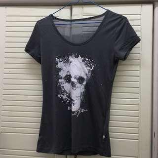 2% two percent grey t-shirt