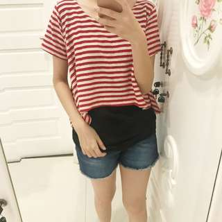 Stripe red top