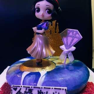 鏡面蛋糕 白雪公主