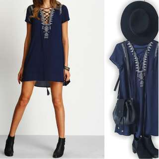 Navy Blue Tunic/Dress Sz 8