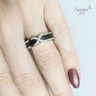 Ceramic ring in Sterling silver!✨s925