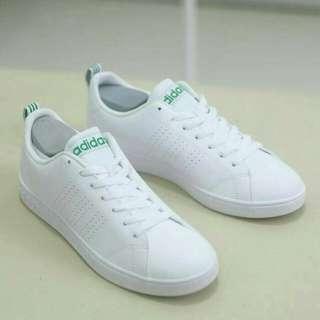adidas neo advantage clean white green original (bnwb)