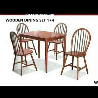 Dining solid wood set