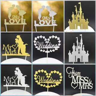 Wedding cake toppers/Props