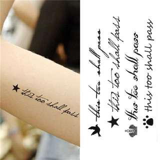 😽Temporary Tattoo - Letter Pattern 😽