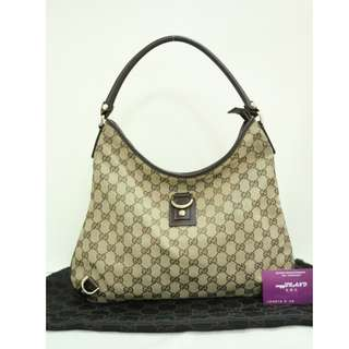 85% New GUCCI 130737 啡色 帆布 GG Logo 手提袋 肩背袋 手袋 Brown Canvas GG Logo Handbag