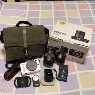 Canon EOS M2 18-55mm Len and 22mm Len
