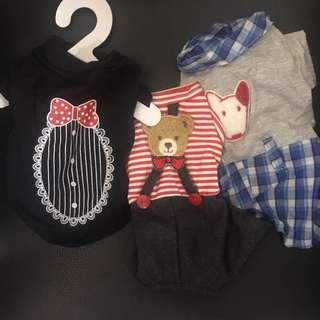 Mini dog pet clothes