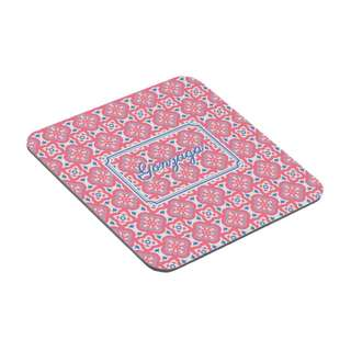 Personalized Coasters - Moroccan Tiles (Red)