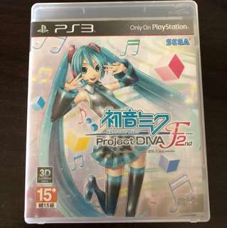 Project Diva F 2nd Playstation 3