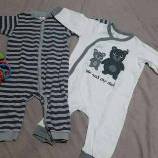 H&M Pajama Onesies Set for 4-6mos