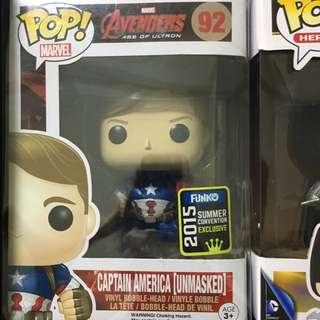 Unmasked Captain America Funko Pop 2015