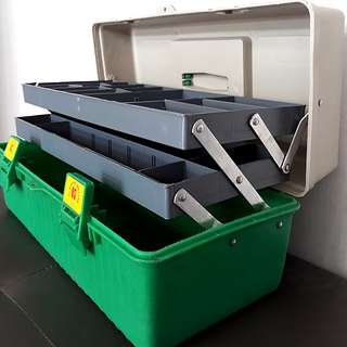 KTK Three Tiers Toolbox / Box / Handy Toolbox / All Purpose Carry-All Box
