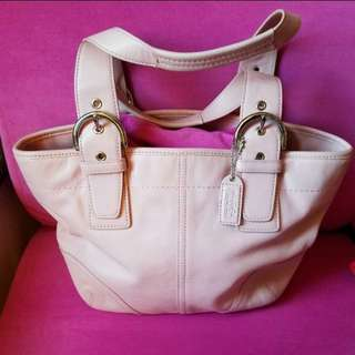 "Coach Daisy Canvas Leather Small Handbag Pink            ❤95%New❤            Good Condition             Size: 11""×7.5""×3"""
