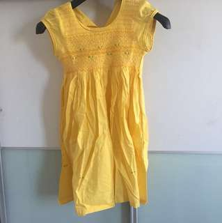 Dress 100% cotton size 9 age 5/7
