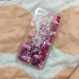 Iphone 7 Flamingo Glitter Case