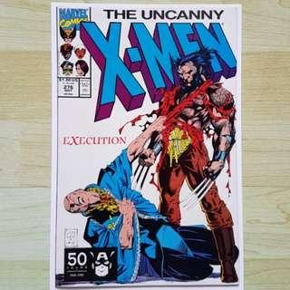 Marvel Comics Uncanny X-Men 276 Near Mint Condition Jim Lee Art