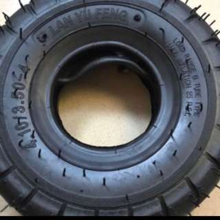 4.10/3.50-4 tyre with tube