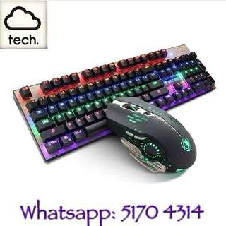 SADES 混光機械鍵盤連機械滑鼠(送特大滑鼠墊80x30cm❗❗)