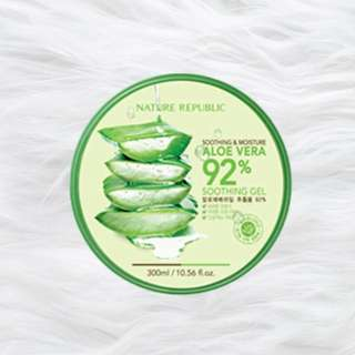 OPEN PO!! nature republic aloe vera gel