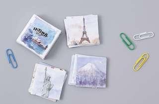 Around the World Scrapbook / Planner Stickers #76