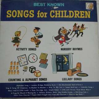Songs For Children Vinyl LP Record