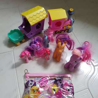 My Little Pony MLP toys and figurine and stationary bundle