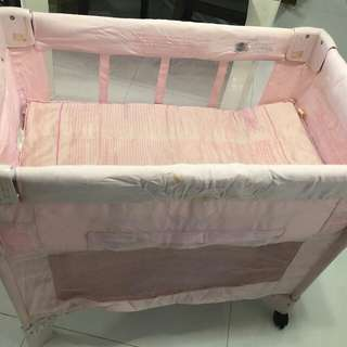 Arm's Reach Bedside Co Sleeper Pink Bassinet