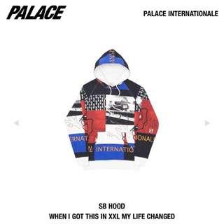 Palace internationale sb hoodie帽踢