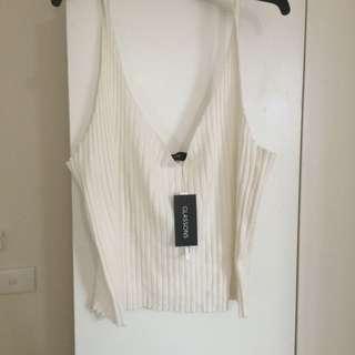 White Knit Singlet Glassons