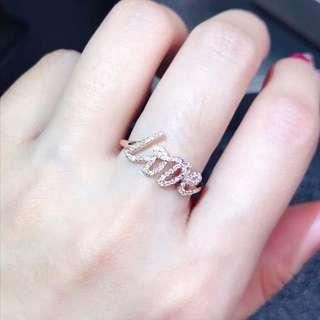 18K 白金或黃金 LOVE 鑽石戒指💍
