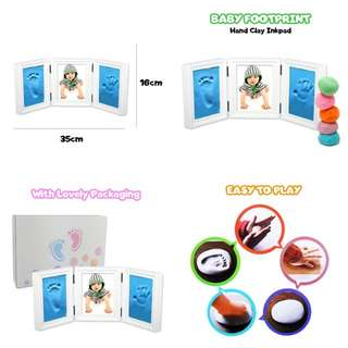 Baby foot prints kit with photo