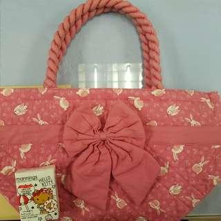 naraya 粉紅色手挽袋