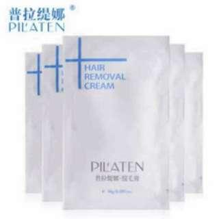 PILATEN Painless Depilatory Hair Removal Cream Sachet 10g. set of 5