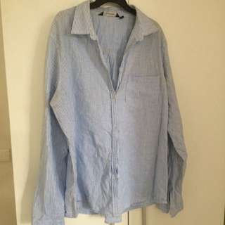 Glassons Collared Sleeved Shirt Stripped