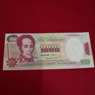 Venezuela Bank Note 1998, 1000 Bolivares