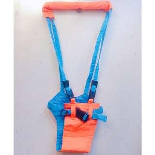 Moonwalk Baby Walker, Pediatric belt (Orange/Blue)