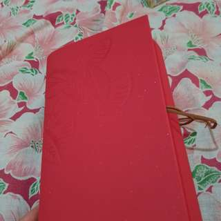 Red Diary or Notebook with Bound