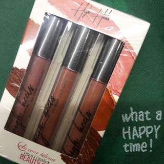 Limited Edition! Ever bilena liquid lipstick set in High Heels