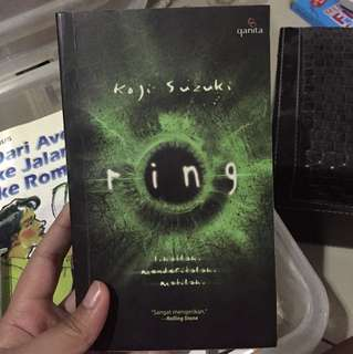 "Novel Horror ""ring"" by Koji Suzuki"