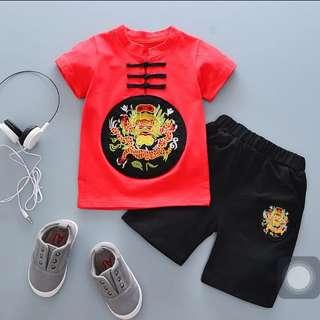babies CNY clothing set red lunar new year
