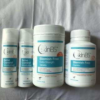 Skin B5 tablets caplets and moisturizer