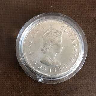 ELIZABETH ll ONE CROWN (1959)Silver