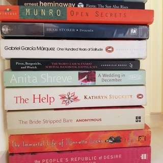 Amy Tan, Ernest Hemingway, Alice Munro, Gabriel Garcia Marquez, Annie Wang, Anita Shreve