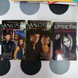1) Angel : Impressions  & Fearless  2) Unseen : The Burning (Buffy the Vampire slayer) 3books