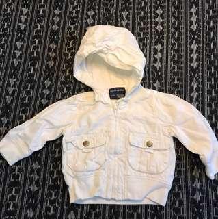 Ralph Lauren white cotton hoodie - 12m