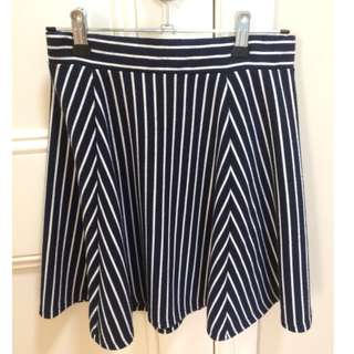 A-Line Stripped Skirt