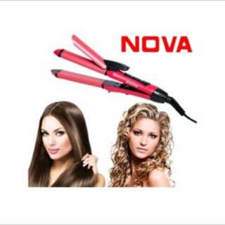 Nova 2 in 1 hair curler and straighter