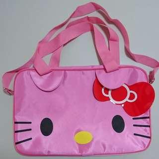 全新粉紅貓有孭帶旅行袋